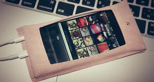 iPhone5用カバー。